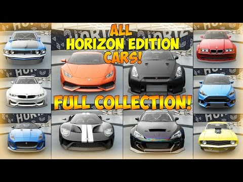 Forza Horizon 3 - COLLECTING ALL HORIZON EDITION CARS! - Finishing The Collection