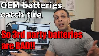 OEM batteries explode, so 3rd party batteries are bad. Nice job, CNBC.