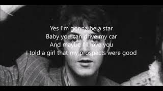 Drive my car with lyrics(Paul McCartney)