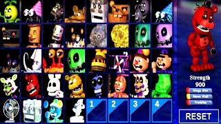ALL ENEMY ANIMATRONICS UNLOCKED!!.. FNAF WORLD Simulator