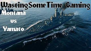 Montana Vs Yamato Combat World Of Warships Gameplay