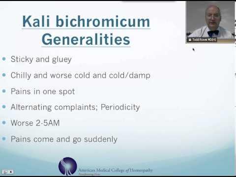 Video Kali Bichromicum: Homeopathic Medicine -Tips For Beginners