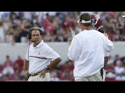 Alabama's Nick Saban Chews Out Lane Kiffin On Sideline