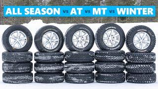 Off-Road vs All Season vs Winter Tires - SNOW TEST!