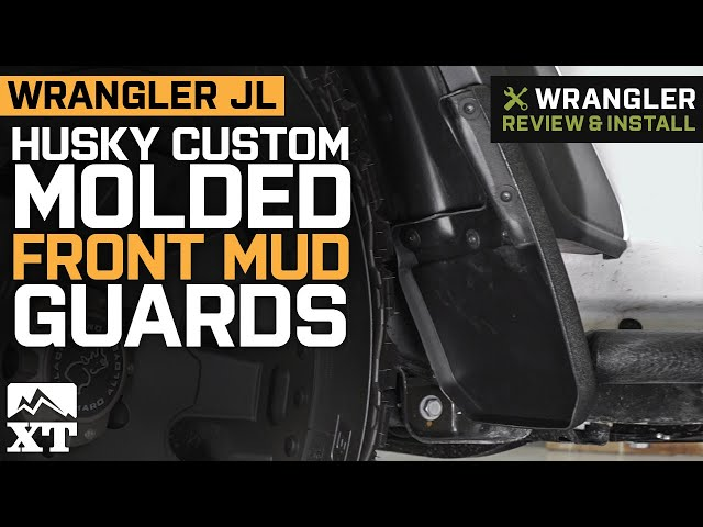 Husky Custom Molded Front Mud Guards (18-19 Jeep Wrangler JL, Excluding  Rubicon)