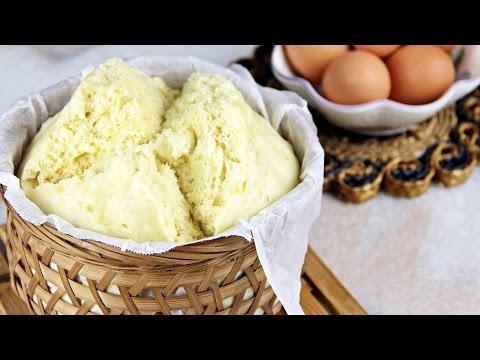 Traditional Steamed Sponge Cake (鸡蛋糕) – Chinese – Recipe By ZaTaYaYummy