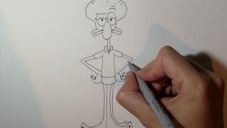 como desenhar o lula molusco 123vid
