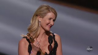Laura Dern Accepts the Oscar for Supporting Actress
