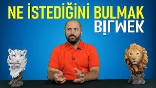 NE İSTEDİĞİNİ BULMAK/BİLMEK