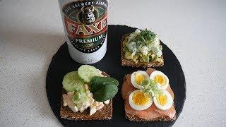 Danish Food Taste Test | Smørrebrød & Faxe (beer) | Food & Drink