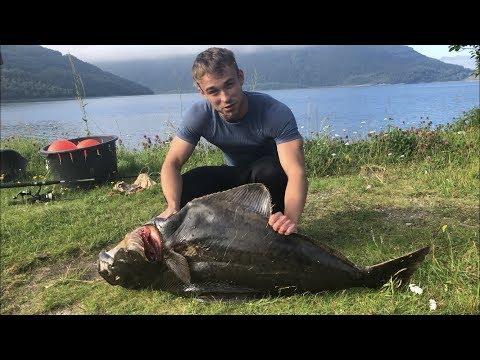 18 kilos helleflynder i Norge