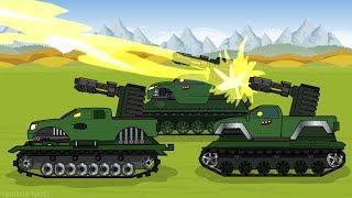 "Tank cartoon ""Monster Trucks Became a Tanks"""