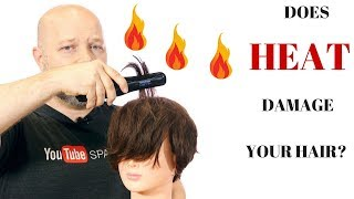 DOES HEAT DAMAGE YOUR HAIR? - How to Protect Against Heat - TheSalonGuy