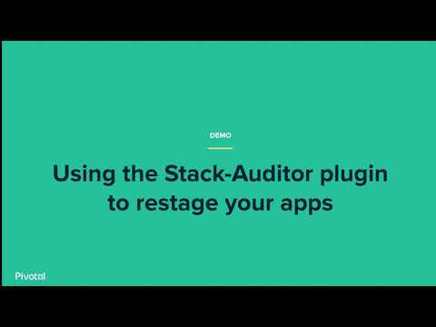 video of running stack audit as well as upgrading apps