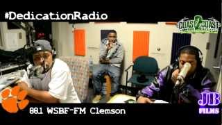 4-4 Water Interview DJ 93 #DedicationRadio 88.1 WSBF-FM Clemson 12-7-12