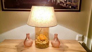 Aus Vasen Lampen bauen - Tischlampe DIY