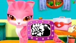 Мой Пушистик - Лечим Котенка #2 Играем пока ГОВОРЯЩИЙ ТОМ Спит Мультик Игра для Детей