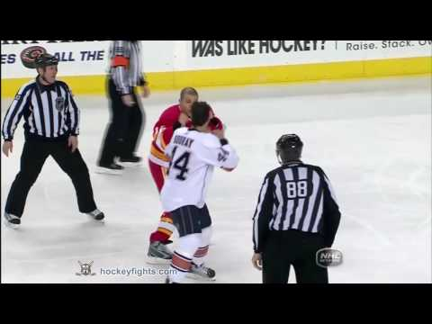 Jarome Iginla vs. Sheldon Souray