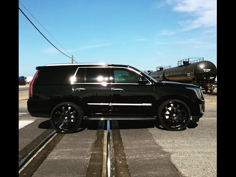 "2015 Cadillac Escalade Choppin' Forgiato 3 Piece 28"" Wheels Floater Caps Wilwood 16"" 6 Piston Brakes"