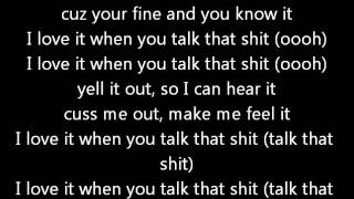 Chris Brown - Talk that shit (Lyrics on screen) karaoke In My Zone 2