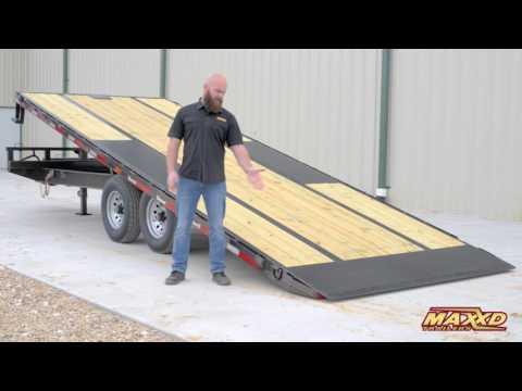 2022 MAXXD TRAILERS 102x24 Deckover Tilt TOX in Elk Grove, California - Video 1