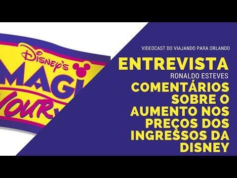 Entrevista com Ronaldo Esteves sobre o aumento dos ingressos da Disney