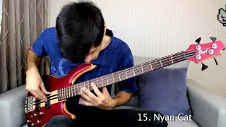 30 MUSIC MEMES in 2 MINUTES but it's the actual song not a bass cover