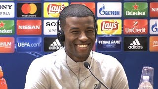 Georginio Wijnaldum Full Pre-Match Press Conference - Roma v Liverpool - Champions League Semi-Final