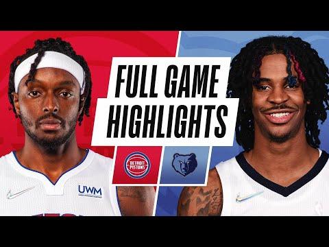 Memphis Grizzlies vs Detroit Pistons</a> 2021-10-12