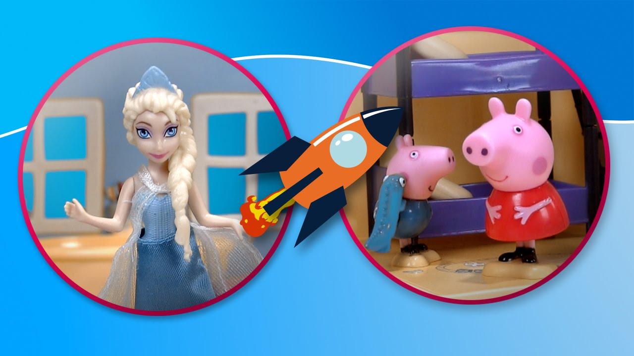 Frozen visita la casa de Peppa Pig