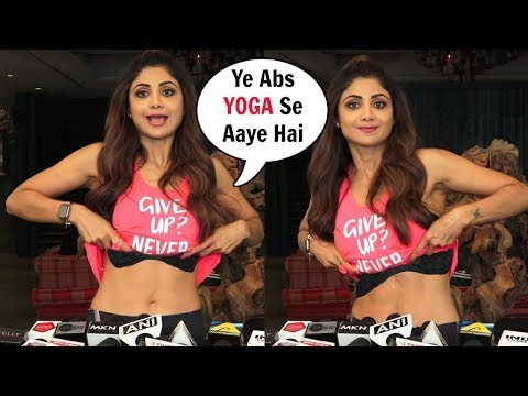 Shilpa Shetty Lifts Her Top To Show HOT Abs Achieved From Yoga