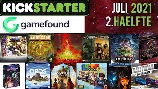 Brettspiele auf Kickstarter und Gamefound im Juli (2.Hälfte)!
