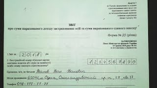 Годовой отчет по ЕСВ за 2018 (подаем в 2019). ФОП СПД на Едином налоге.