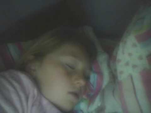 my sister asleep me filming her-