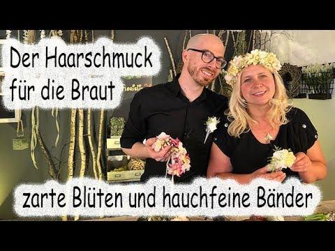 Floristik24 Haarschmuck für die Braut, zarte Blüten und hauchfeine Bänder