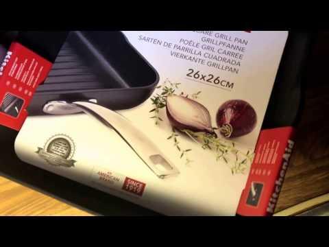Kitchenaid Grillpfanne, 26 x 26 cm unboxing und Anleitung
