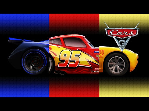 Disney Pixar Cars 3 Lightning McQueen Cruz Ramirez Jackson Storm Transforming Videos for Kids & Song