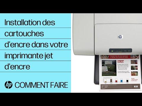 Installation des cartouches d'encre dans votre imprimante à jet d'encre