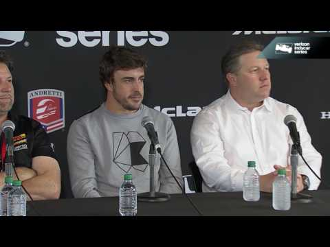 Fernando Alonso Press Conference At Barber Motorsports Park