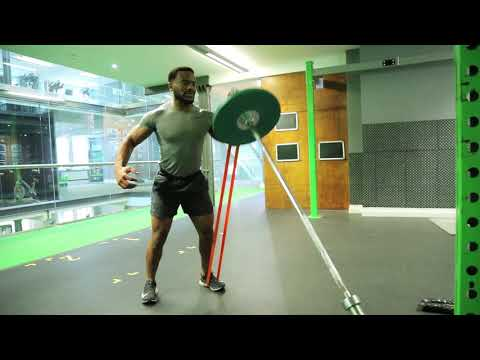 How To Do Single Arm Banded Landmine Press | Exercise Demo