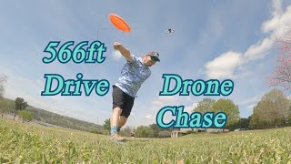 Double G 566 ft. Disc Golf Drive Chased to Perfection by FPV Racing Drone