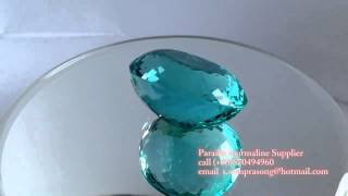 Top neon blue green Paraiba tourmaline gemstones