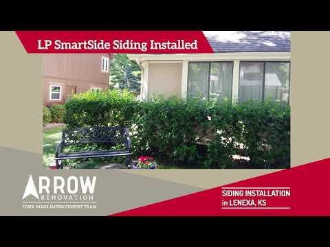 LP SmartSide Siding Installed on Lenexa, KS Home