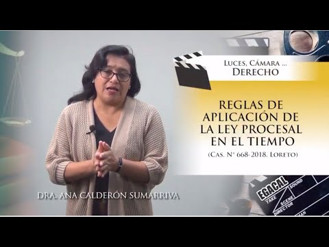 REGLAS DE APLICACIÓN DE LA LEY PROCESAL EN EL TIEMPO - Luces Cámara Derecho 143 - EGACAL