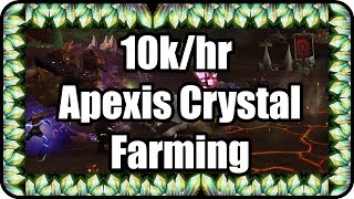 WoW: Apexis Crystal 10k/hr Farming Guide The Iron front - Tanaan Jungle - Patch 6.2