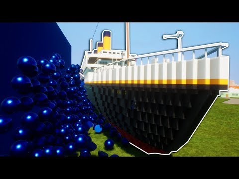 New Titanic Gets Destroyed By Lego Tsunami! - Brick Rigs Gameplay