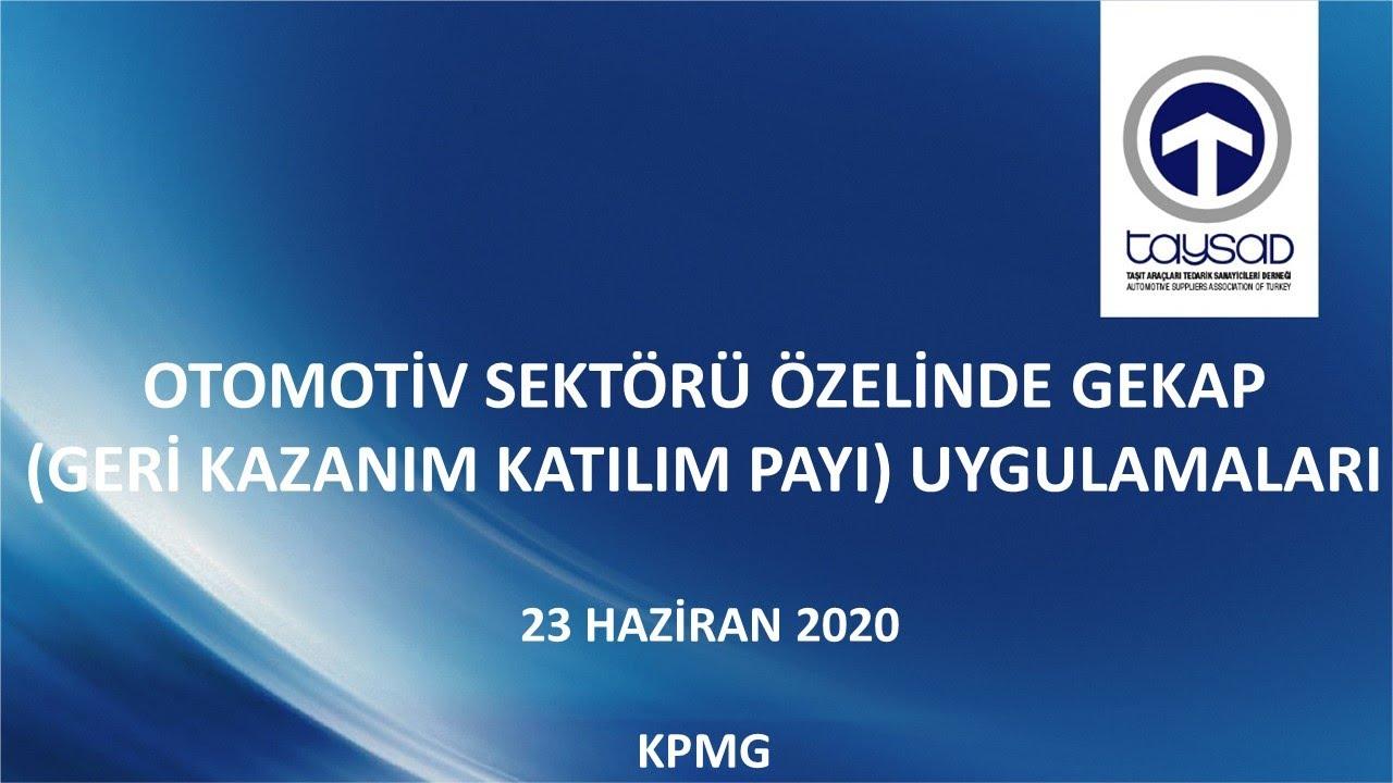 OTOMOTİV SEKTÖRÜ ÖZELİNDE GEKAP (GERİ KAZANIM KATILIM PAYI) UYGULAMALARI