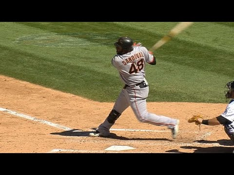 Pablo Sandoval hits two homers in the same inning
