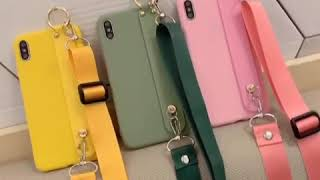 Candy Colors Wrist Strap Lanyard Holder Phone Case🌈