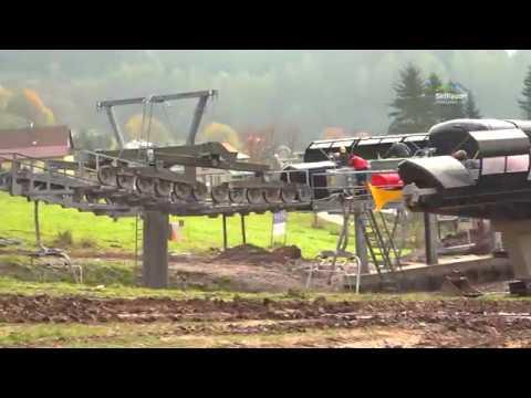 Family Express - stavba nové lanovky v Černém Dole